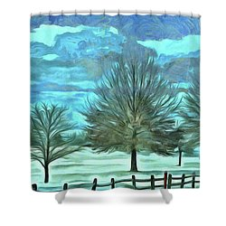 Shower Curtain featuring the mixed media Mandisa by Trish Tritz