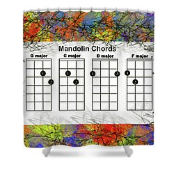 Mandolin- The Basic Chords Shower Curtain