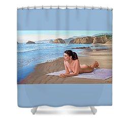 Mandy At The Beach Shower Curtain