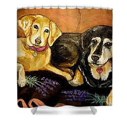 Mandys Girls Shower Curtain