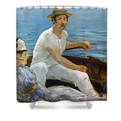 Manet: On A Boat, 1874 Shower Curtain by Granger