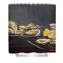Manet: Oysters, 1862 Shower Curtain by Granger