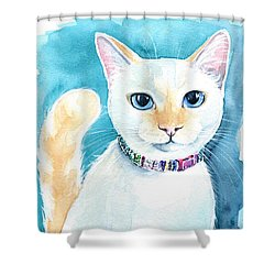 Mango - Flame Point Siamese Cat Painting Shower Curtain