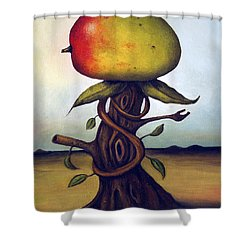 Mango Tree Aka Senor Mango Shower Curtain by Leah Saulnier The Painting Maniac
