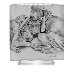 Mango's Pups Shower Curtain
