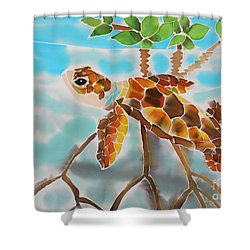 Mangrove Baby Turtle Shower Curtain