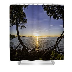 Mangrove Frame Shower Curtain