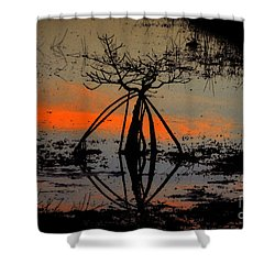 Mangrove Silhouette Shower Curtain by David Lee Thompson