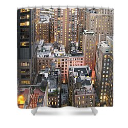 Manhattan At Dusk Shower Curtain