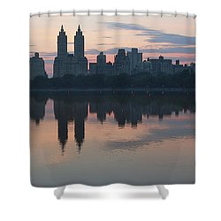 Manhattan At Night  Shower Curtain