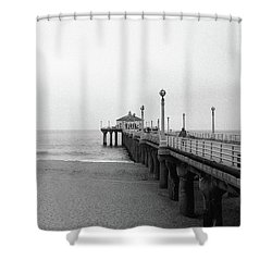 Manhattan Beach Pier On Film Shower Curtain