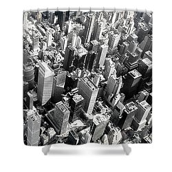 Manhattan  Shower Curtain by Chris Fraser