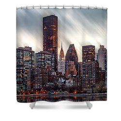 Manhattan Daze Shower Curtain