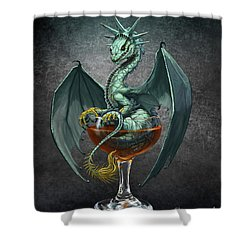 Manhattan Dragon Shower Curtain