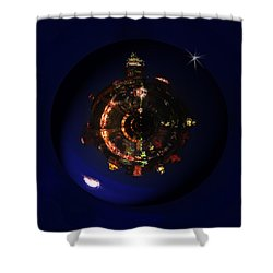 Manhattan Island Moonlight Shower Curtain by Deborah Smith