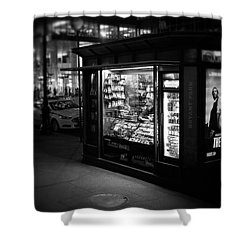 Manhattan Newsstand, 42nd Street Shower Curtain