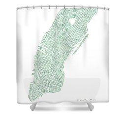 Manhattan Nyc Seaglass Shower Curtain