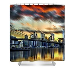 Manhattan Passion Shower Curtain by Az Jackson