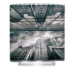 Shower Curtain featuring the photograph Manhattan Reflections by Jessica Jenney