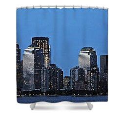 Shower Curtain featuring the photograph Manhattan Skyline by John Haldane