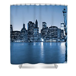 Manhattan Skyline Shower Curtain by Luciano Mortula