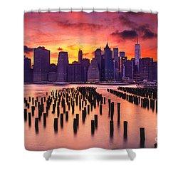 Manhattan Sunset Shower Curtain