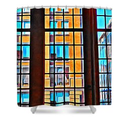 Manhattan Windows Shower Curtain