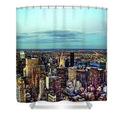 Manhattan's Upper East Side Shower Curtain by Randy Aveille