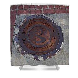 Manhole II Shower Curtain