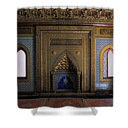 Manial Palace Mosque Shower Curtain by Nigel Fletcher-Jones