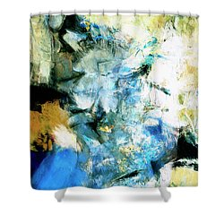 Shower Curtain featuring the painting Manifestation by Dominic Piperata