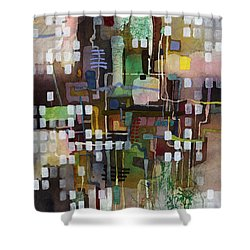 Shower Curtain featuring the painting Manifold by Hailey E Herrera