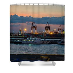 Manila Port Shower Curtain