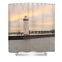 Manistee North Pierhead Lighthouse Shower Curtain