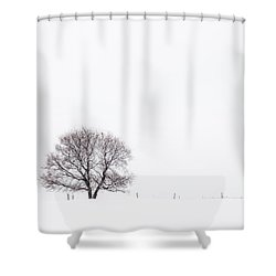 Shower Curtain featuring the photograph Manitoba Winter by Yvette Van Teeffelen