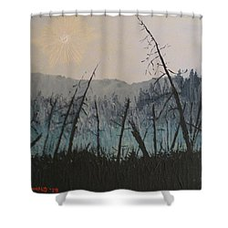 Shower Curtain featuring the painting Manitoulin Beaver Meadow by Ian  MacDonald