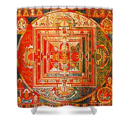 Manjuvara Thangka Mandala Shower Curtain