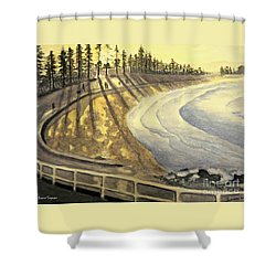 Manly Beach Sunset Shower Curtain