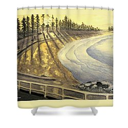 Manly Beach Sunset Shower Curtain by Leanne Seymour