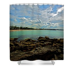 Manly Bliss Shower Curtain