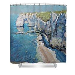 Manneport, The Cliffs At Etretat Shower Curtain
