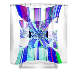 Man's Flag Shower Curtain by Thibault Toussaint
