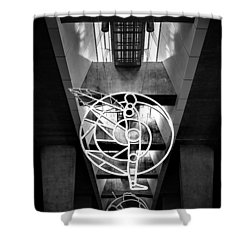 Man's Spheres Shower Curtain