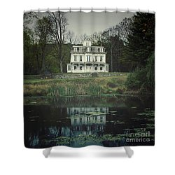 Mansion Reflected At Waterloo Shower Curtain
