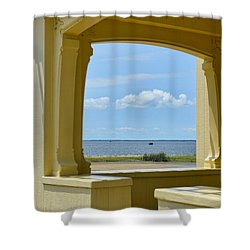 Mansion View Shower Curtain