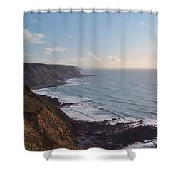 Mansley Cliff And Gull Rock From Longpeak Shower Curtain