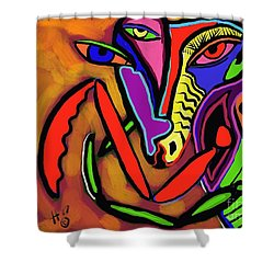 Mantamorphysis Shower Curtain