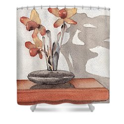 Mantel Flowers Shower Curtain