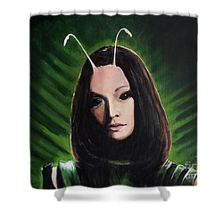 Mantis Shower Curtain by Tom Carlton