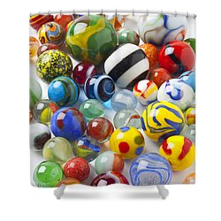 Many Beautiful Marbles Shower Curtain by Garry Gay